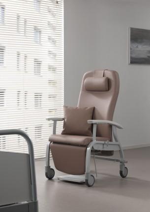 Bruine Fero relaxstoel van metaal